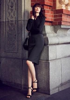 Womens Bandless Pencil Skirt