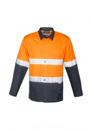 Mens Rugged Cooling Taped Hi Vis Spliced Shirt