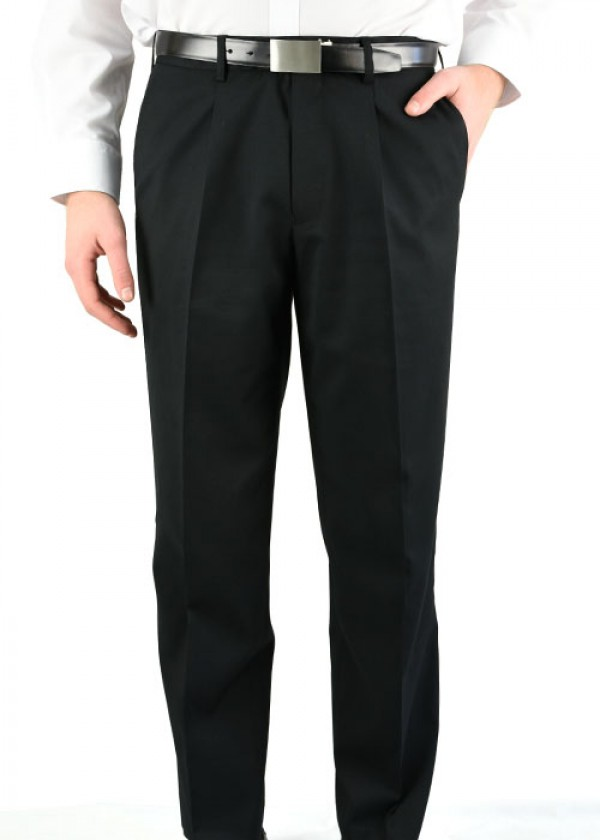 MENS PLEATED FRONT PANT