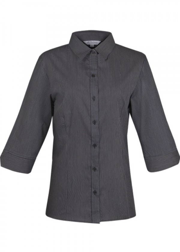 LADIES HENLEY 3/4 SLEEVE SHIRT