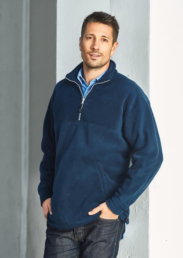 Mens Heavy Weight 1/2 Zip Winter Fleece