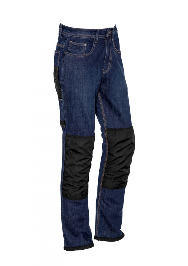 Mens Heavy Duty Cordura Stretch Denim Jeans